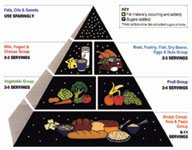 Picture of food pyramid.