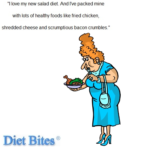 Dieting Cartoon - Salads for Fat Loss Results